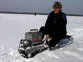 Снегоходы своими руками на рыбалке