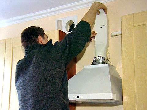 Установка кухонной вытяжки своими руками фото