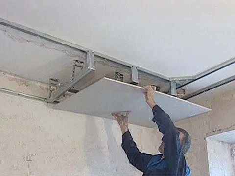 Как делать потолок из гипсокартона своими руками