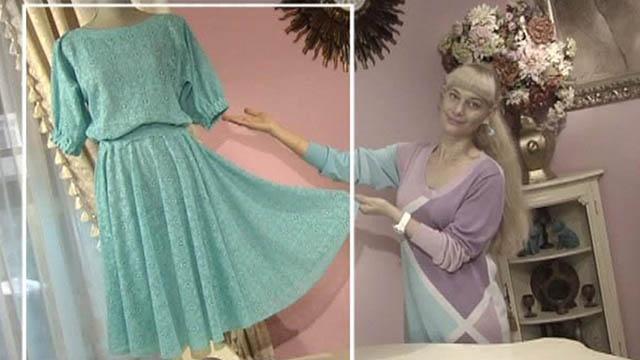 Как сшить платье из гипюра и трикотажа Зигзагом. новогоднее обращение хрущева. Платье-трансформер своими руками