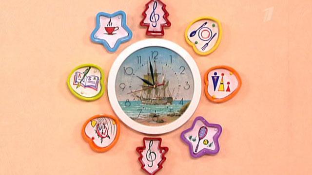Часы с распорядком дня своими руками 1
