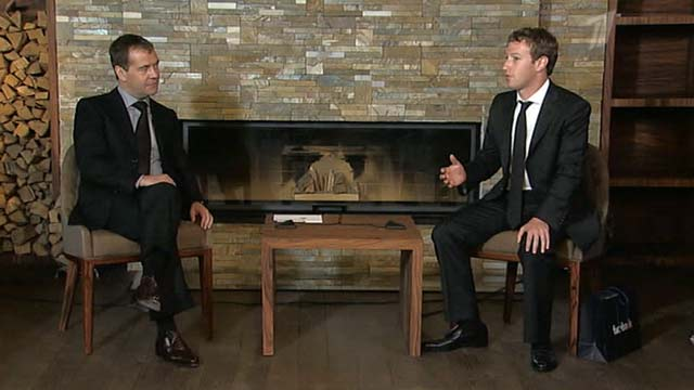 Интервью Марка Цукерберга Первому каналу Фотографии