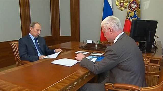 Владимир Путин и Федор Андреев