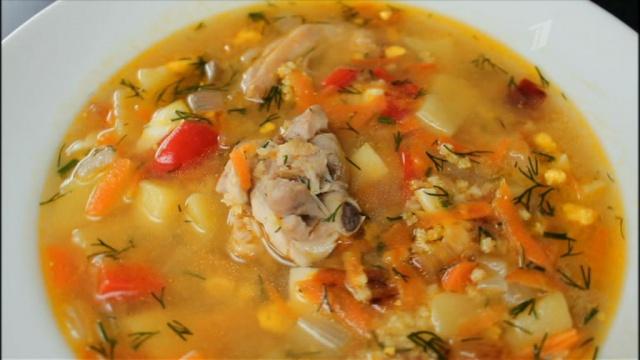 Картофельный суп с пшеном