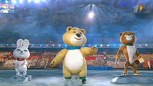 Десятки тысяч человек видели своими глазами открытие Олимпиады на стадионе ''Фишт''