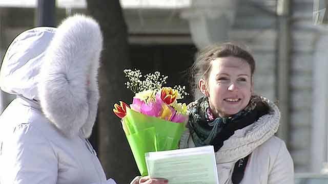 8 марта женщин поздравляют даже из космоса - Первый канал