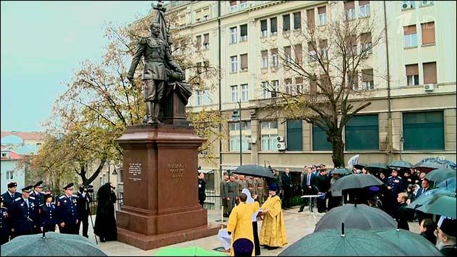 Патриархи Русской и Сербской церквей освятили памятник Николаю II в Белграде
