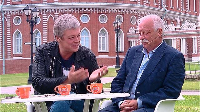 Леонид Якубович и  Александр Стриженов в программе« Доброе утро»