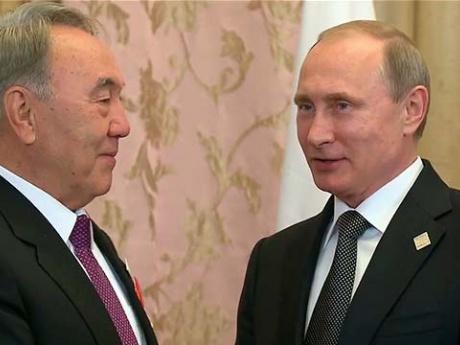 Владимир Путин встретился в Уфе с президентом Казахстана Нурсултаном Назарбаевым
