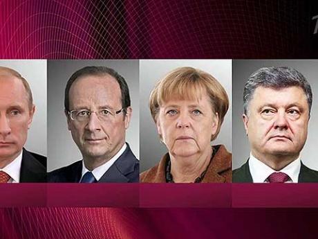 Состоялся телефонный разговор Владимира Путина с Ангелой Меркель,Франсуа Олландом и Петром Порошенко