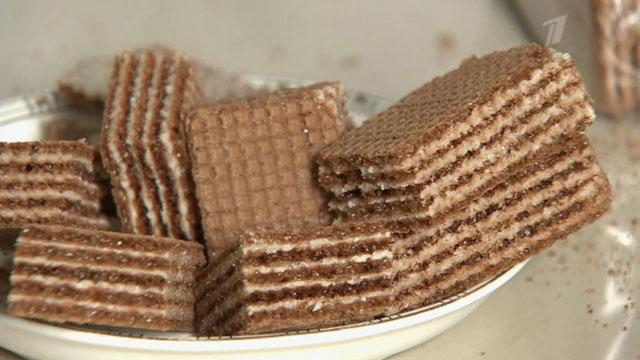 шоколадные вафли фото