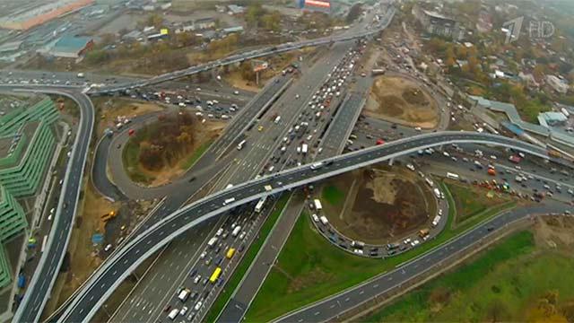 Развязка МКАД и Можайского шоссе