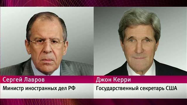 Сергей Лавров и Джон Керри по телефону обсудили перспективы межсирийского диалога