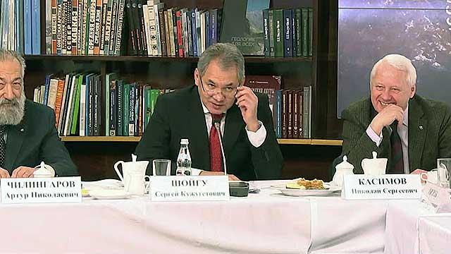 О самых ярких проектах РГО рассказал его президент С.Шойгу на заседании медиаклуба организации